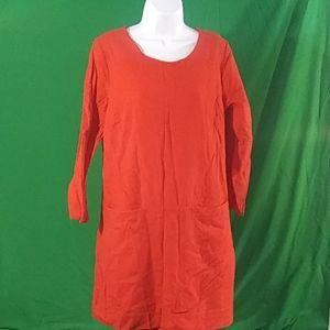 J crew sz 12 wool Jules shift dress in red